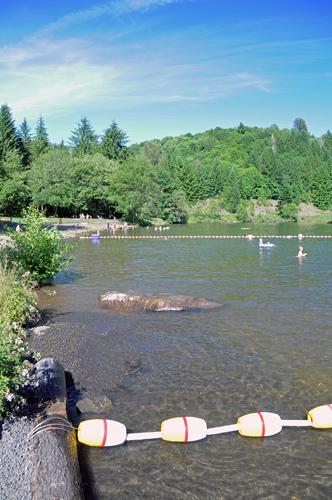 Ike Kinswa State Park swimming area on Mayfield Lake