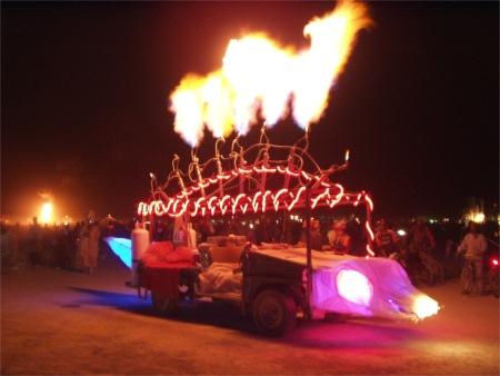Fire Fish Scales At Burning Man