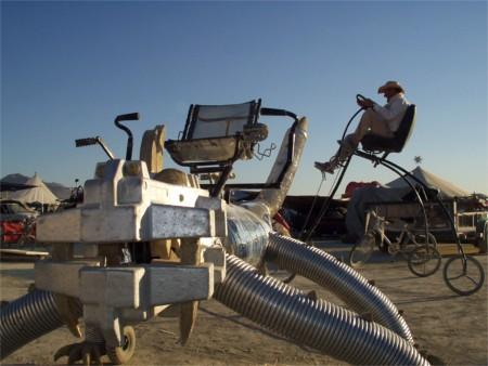 Sidewinder And Trike At Burning Man