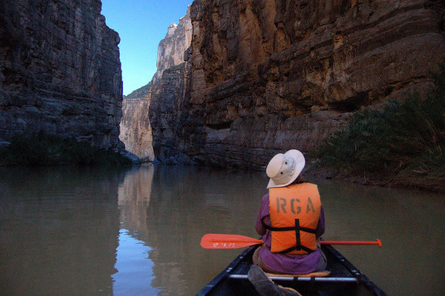 Karen Santa Elena Canyon Rio Grande Big Bend National Park