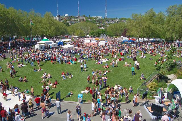 Seattle Northwest Folklife Festival At Fisher Green In Seattle Center