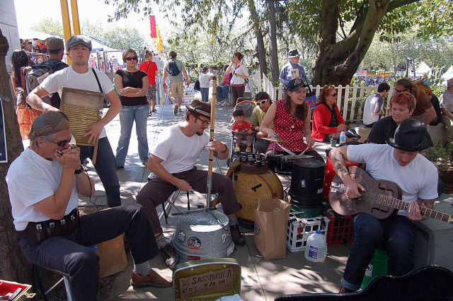 Sassparilla Blues Band At Seattle Northwest Folklife Festival 2008, Band From Portland Oregon