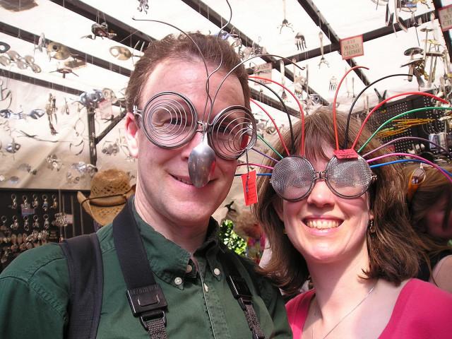 Spoonman Kitchen Utensil Glasses At Seattle Northwest Folklife Festival