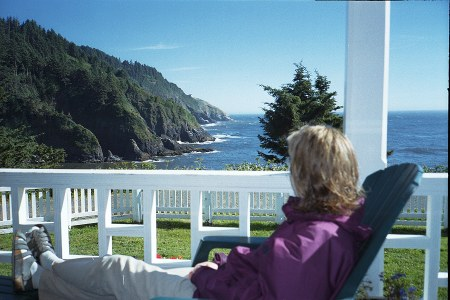 Sea Lion Point View From Heceta Head Lighthouse B Amp B Bed