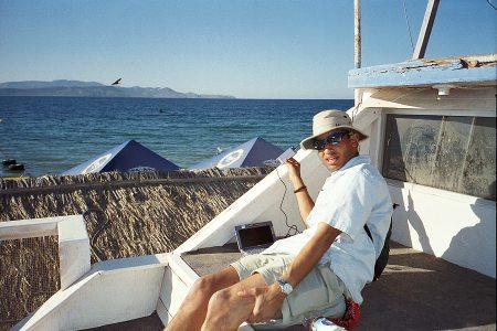 Ancel Powering Up At Playa Tecolote, Baja, Mexico