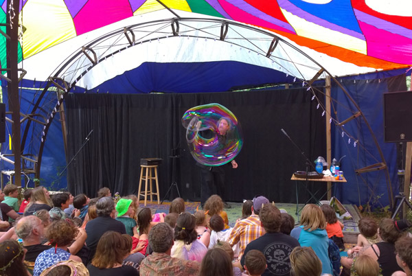 Oregon Country Fair In Eugene With Bubble Performer