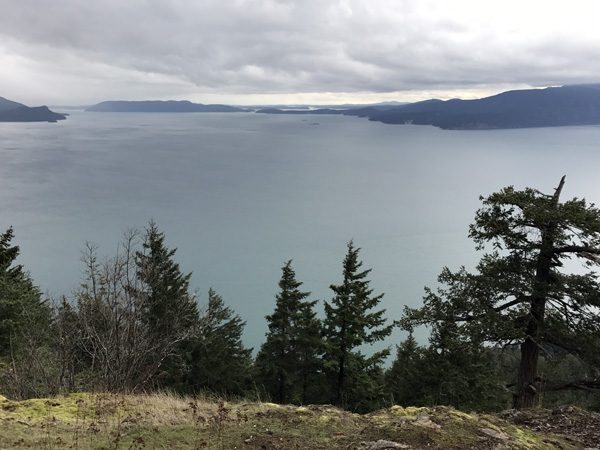 Lummi Island Heritage Trust Baker Preserve viewpoint to Rosario Strait and San Juan Islands