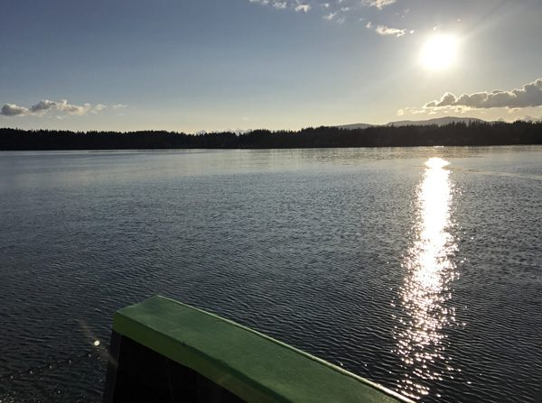 Lummi Island ferry approaching island
