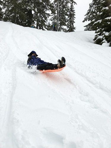 Mountaineers Mt Baker Lodge sledding