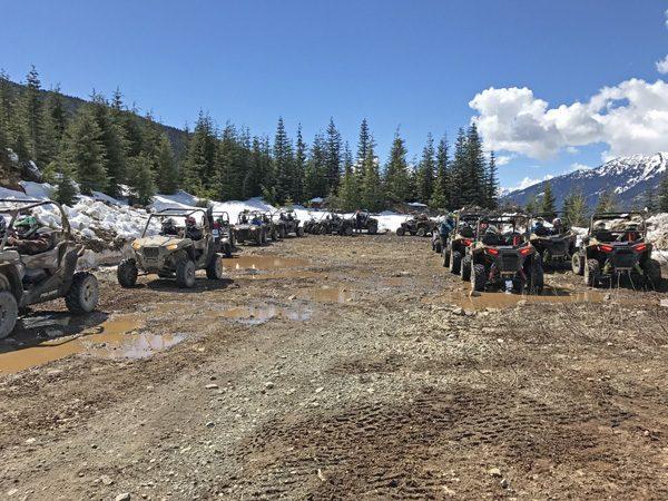 Whistler The Adventure Group RZR ATV tour group end of road turnaround