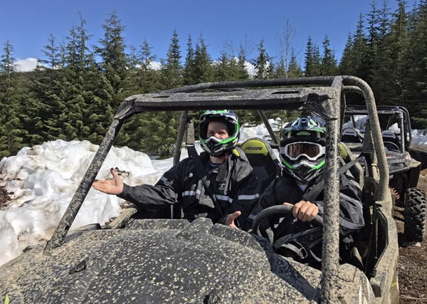 Whistler The Adventure Group RZR ATV tour rider and driver