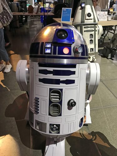 Seattle Mini Maker Faire R2-D2 droid from R2 Builders Club
