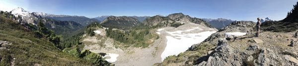 Table Mountain Trail Mt Baker Snoqualmie National Forest Mt Baker Chain Lakes trail area panorama
