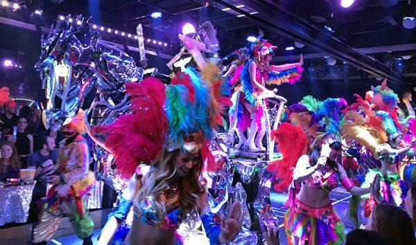 Robot Restaurant dancers Shinjuku Tokyo Japan