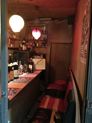 Shinjuku Golden-gai Tokyo Japan tiny old drinking establishment bar entire size