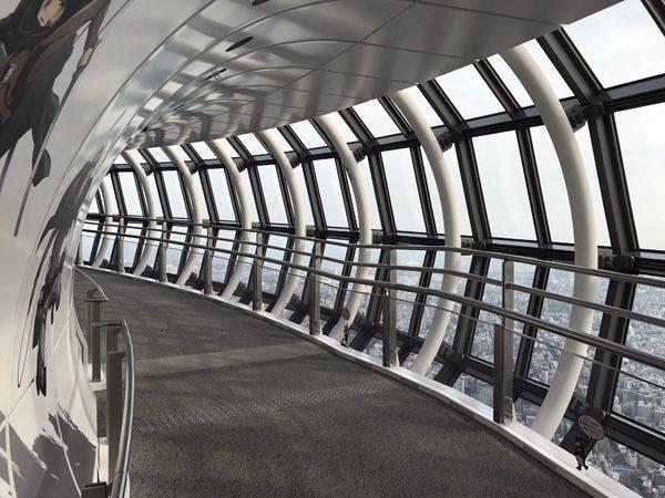 Tokyo SkyTree Tembo Galleria interior 450m elevation near Asakusa in Sumida Tokyo Japan