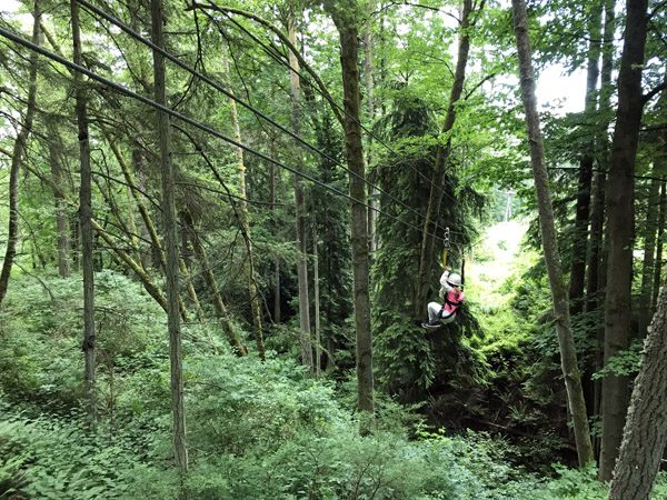 Canopy Tours Northwest zip line tour on Camano Island longest zip line