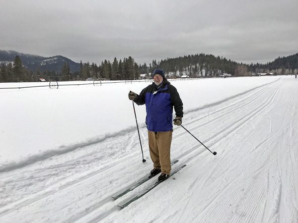 Cross-country nordic skiing at Plain Valley Nordic Ski Trails