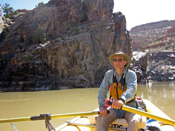 At oars rafting in Westwater Canyon on Colorado River Utah