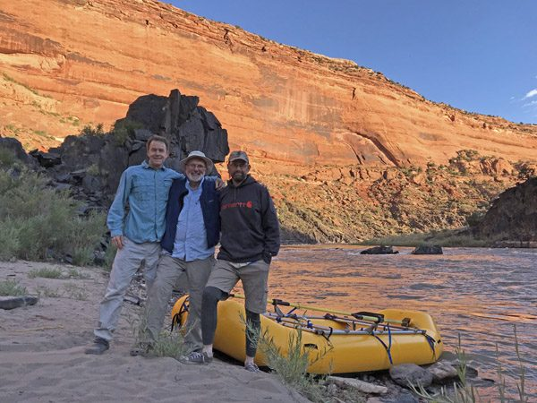 Rafters at Hades Bar campsite in Westwater Canyon on Colorado River Utah