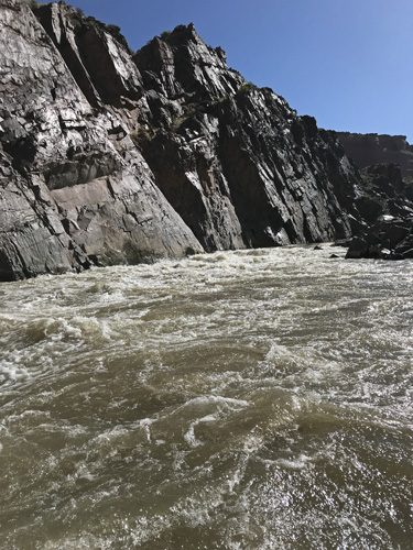 Skull rapids in Westwater Canyon on Colorado River Utah