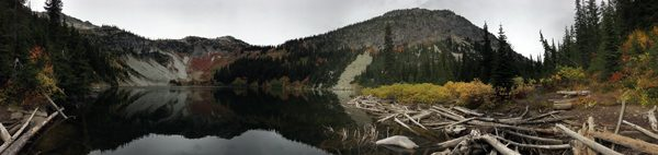Lake Ann panorama in Okanogan Wenatchee National Forest in Cascade Mountains