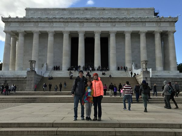 Lincoln Memorial on National Mall in Washington DC