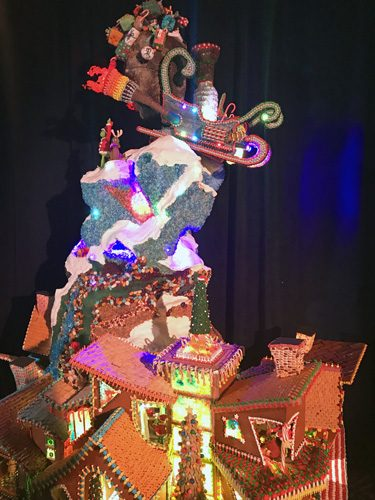 Seattle Sheraton Gingerbread house holiday competition entry 3