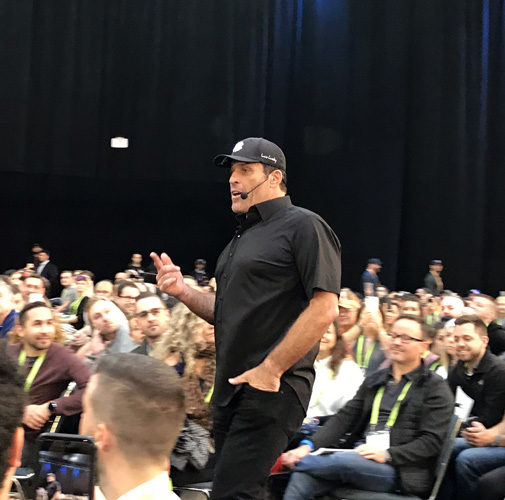 Tony Robbins at Unleash the Power Within at Los Angeles Convention Center