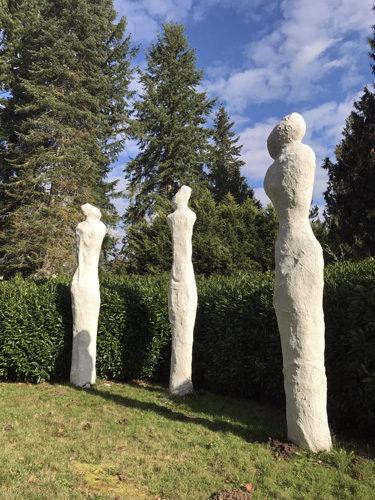 Monarch Sculpture Park in Tenino 3 figures sculpture The Three Graces by Myrna Orsini