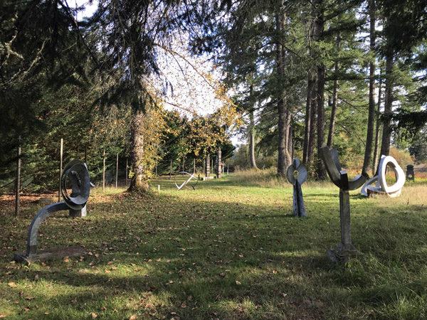 Monarch Sculpture Park in Tenino various sculptures