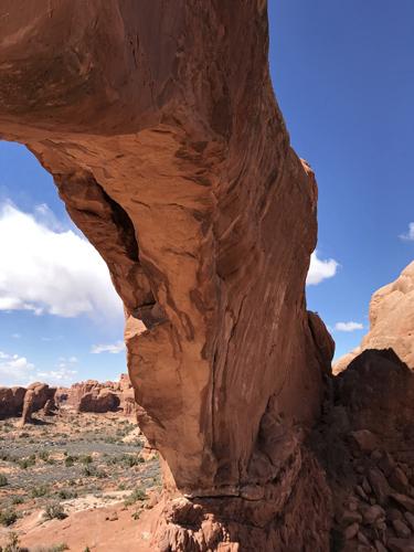 Arches National Park North Window arch underside