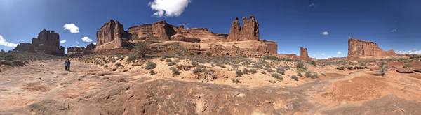 Arches National Park Park Avenue Trail north end panorama