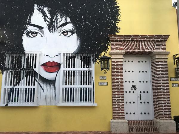 Cartagena Colombia Barrio Getsemani mural