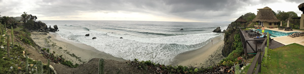 Casa Tayrona Los Naranjos Atlantic Ocean beach view in Colombia