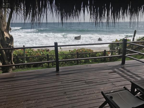 Casa Tayrona Los Naranjos beachside cabin deck in Colombia near Tayrona National Park