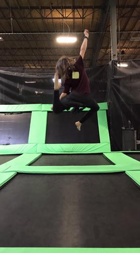Elevated Sportz Trampoline Park Event Center bouncing fun stretch side