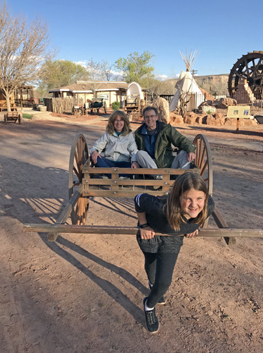 Bluff Fort museum Utah pioneer style Mormon handcart