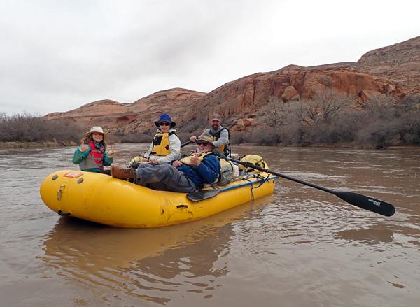 San Juan River Utah rafting group