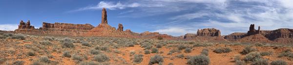 Valley Of The Gods Utah panorama