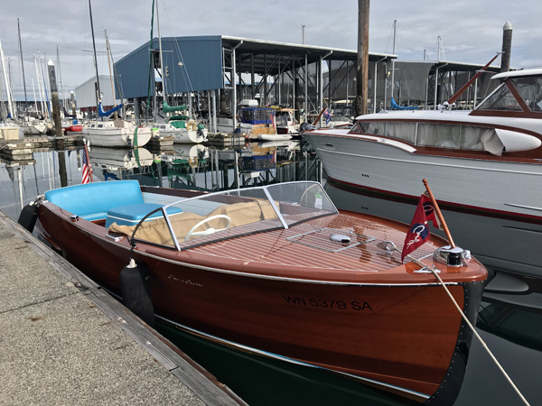 Chris Craft boat show in Port Orchard marina
