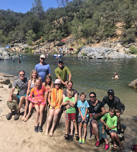 Group swimming at South Yuba River State Park
