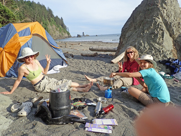 Olympic National Park Peninsula Third Beach backpacking camp site