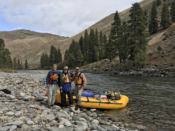 Rafters on Middle Fork of Salmon River in Idaho