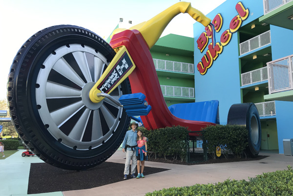 Walt Disney World Big Wheel at Pop Century Resort hotel