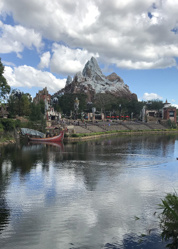 Walt Disney World Expedition Everest over Discovery River in Animal Kingdom