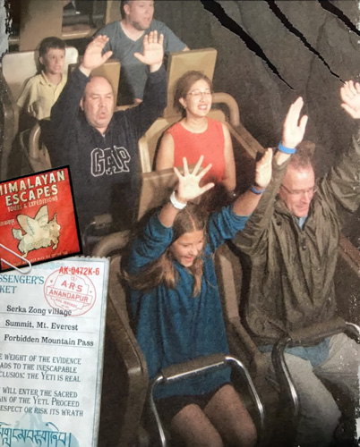 Walt Disney World Expedition Everest roller coaster front row in Animal Kingdom