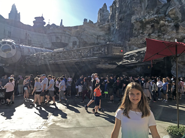 Walt Disney World Millennium Falcon in Star Wars Galaxy's Edge of Hollywood Studios