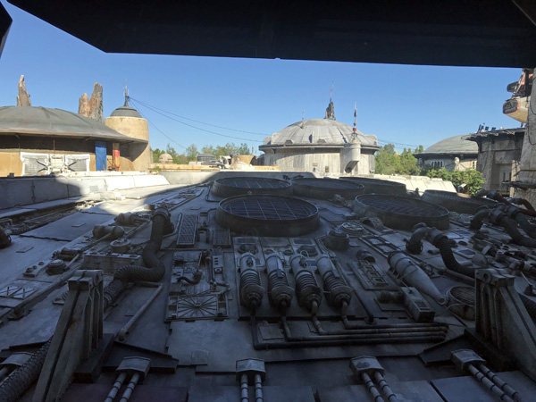 Walt Disney World Millennium Falcon launch bay in line for ride at Hollywood Studios