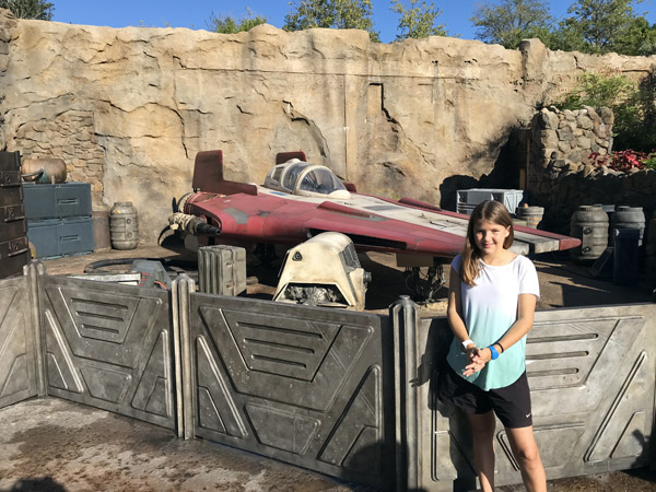Walt Disney World spaceship in Star Wars Galaxy's Edge of Hollywood Studios